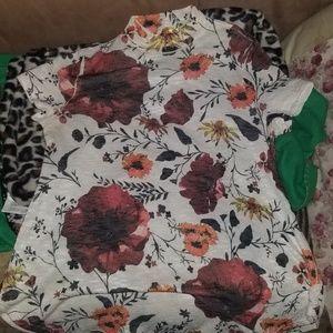 Tops - Floral Shirt Dress